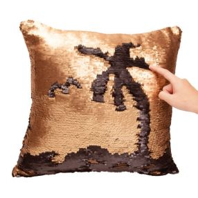 Sequin Cushion - Gold