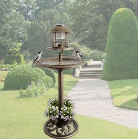 Solar Bath Bird Feeder