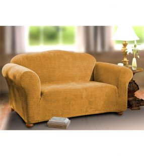 Diamond Stretch Cover - Gold - Armchair