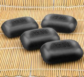 Black Bamboo Charcoal Soap S/4
