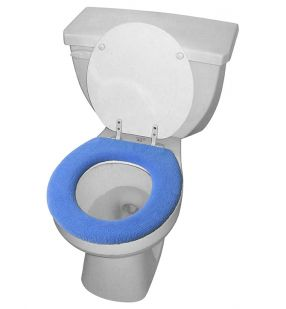 Toilet Seat Covers - Set of 2 (blue & tan)