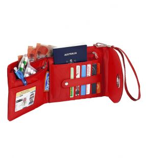 Leather Sling Purse Red